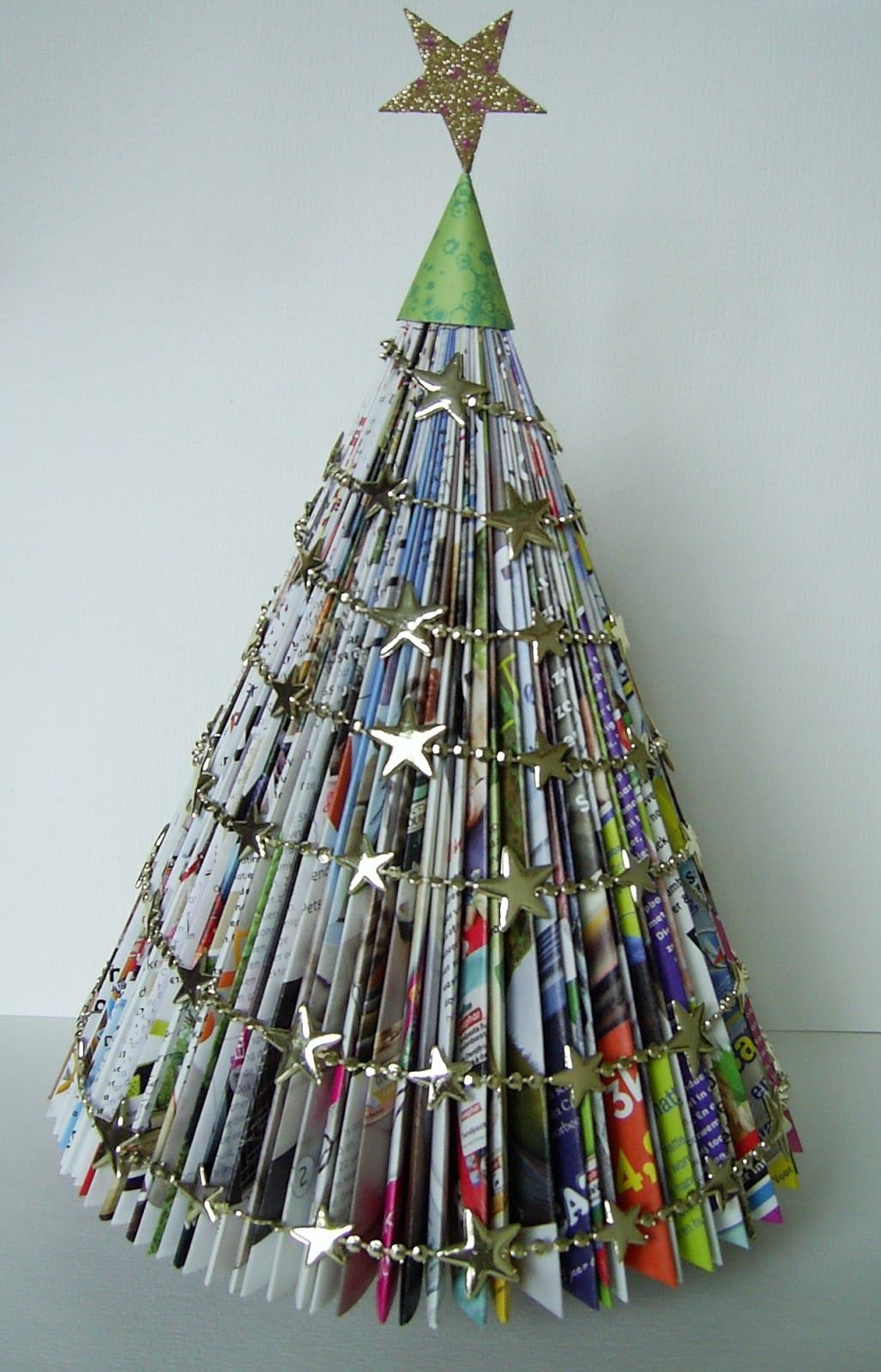 Afbeeldingsresultaat Voor Kerstboom Vouwen Van Tijdschrift Kerst