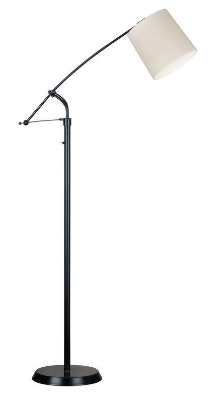 View The Kenroy Home 20812ORB Reeler 1 Light Boom Arm Floor Lamp At  LightingDirect.com. 100W Dimmable LED $158
