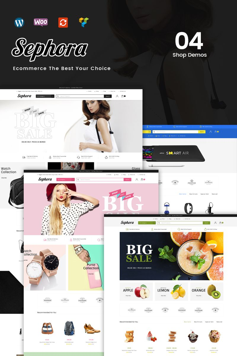 Sephora Woocommerce Theme Web Design Software Wordpress Theme Design Web Design Inspiration