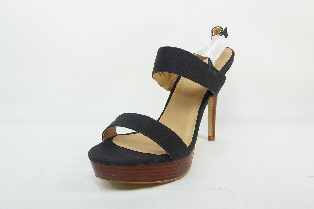 8a637deb872 Diba London Tizzy Platform Strappy Heels Sandals Black Sz 8.5 New ...