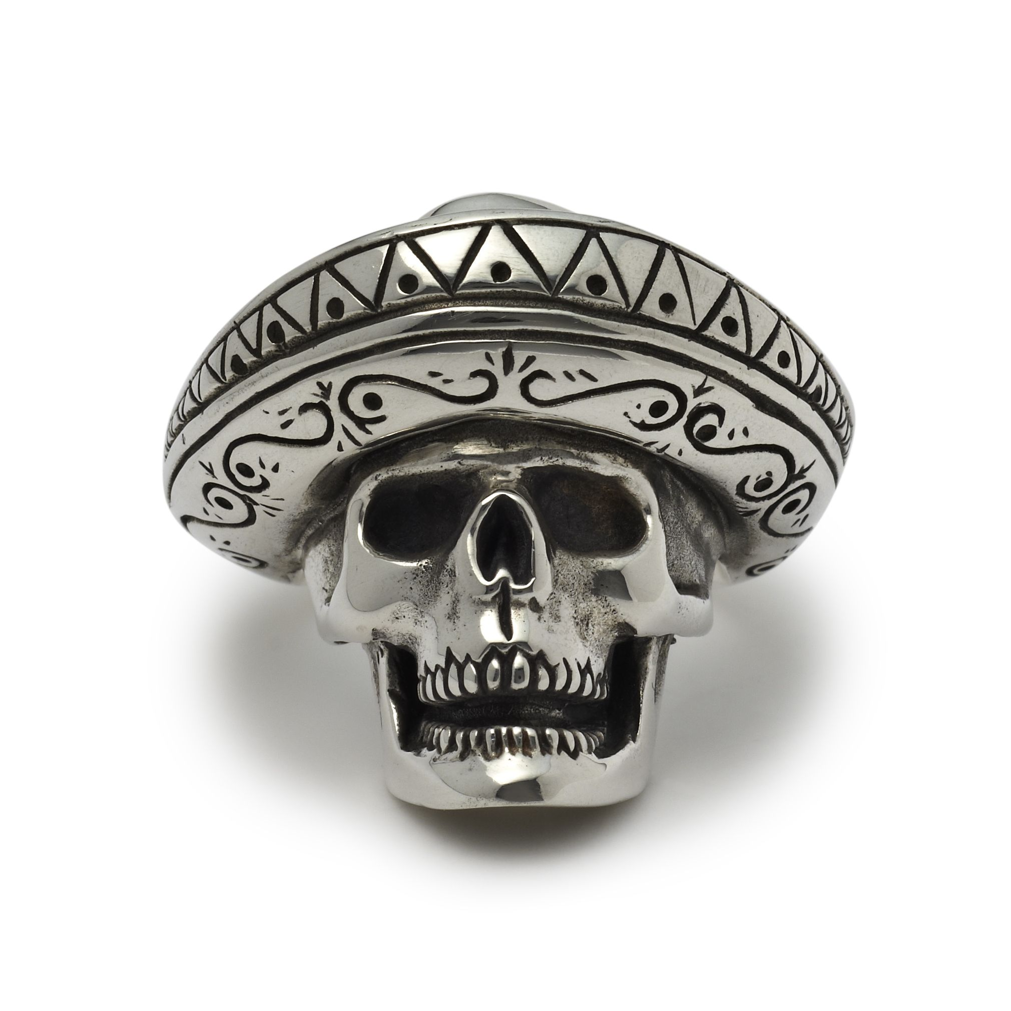 ON SALE Double skull ring handmade in sterling silver