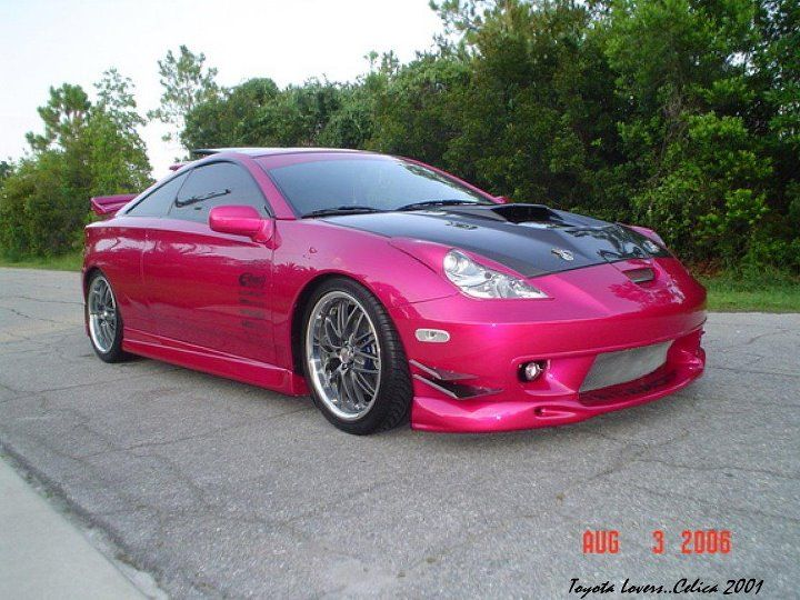 Most Reliable Cars: Toyota Celica 2001 Pink Modified