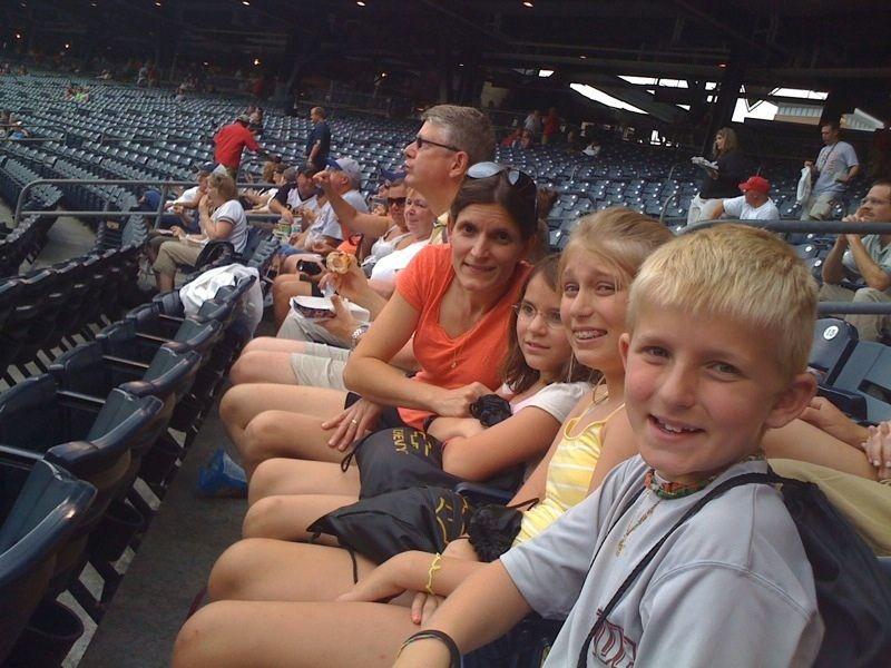 Laura & the kids @ PNC Park, Summer 2009