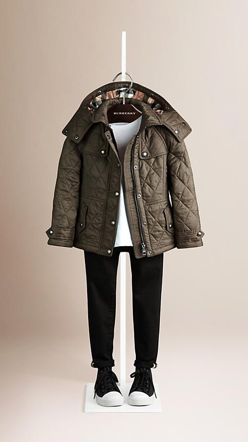 Mink grey Diamond Quilted Jacket - Image 1