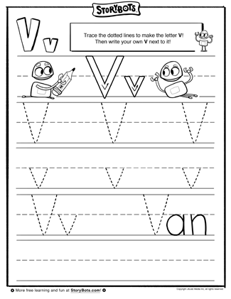 b letter v tracing sheet the letter v is now in view can you trace it