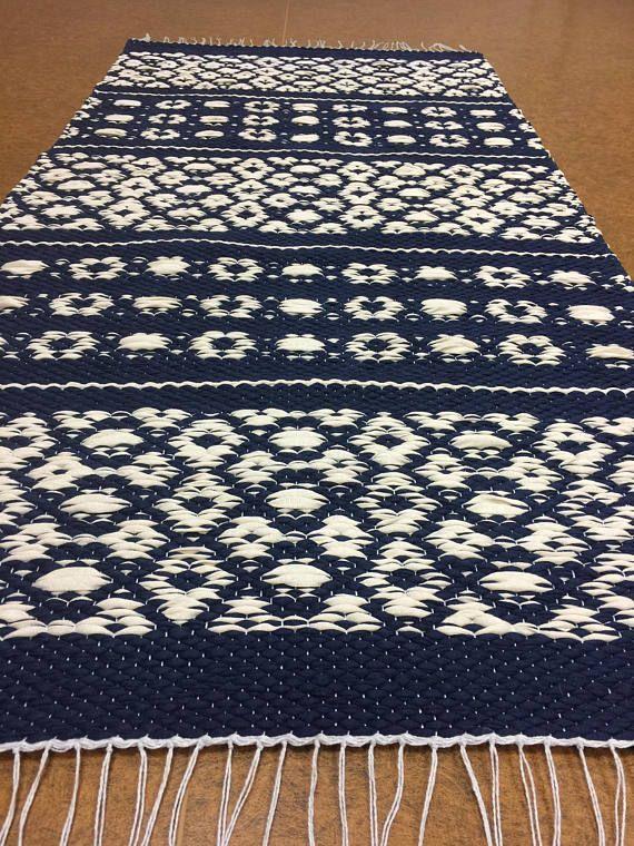 Scandinavian Rug Blue White Rugs Runner Rugs Floor Rug Kitchen Rugs Accent Rug Handwoven Rug Washable Rugs Bedroom Rugs Nordic Rug Blue And White Rug Scandinavian Rug Washable Rugs