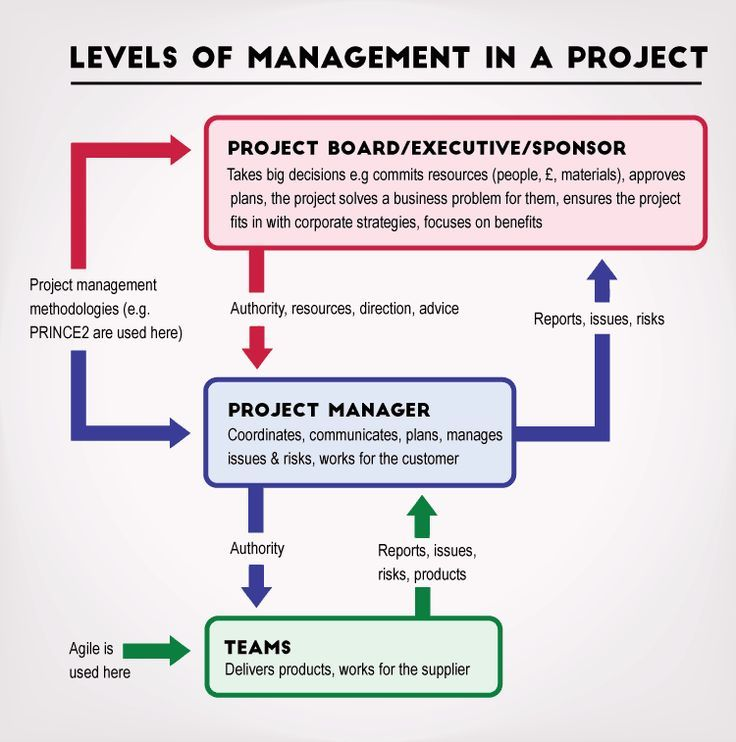[Diagram] The 3 levels of management in a project Agile