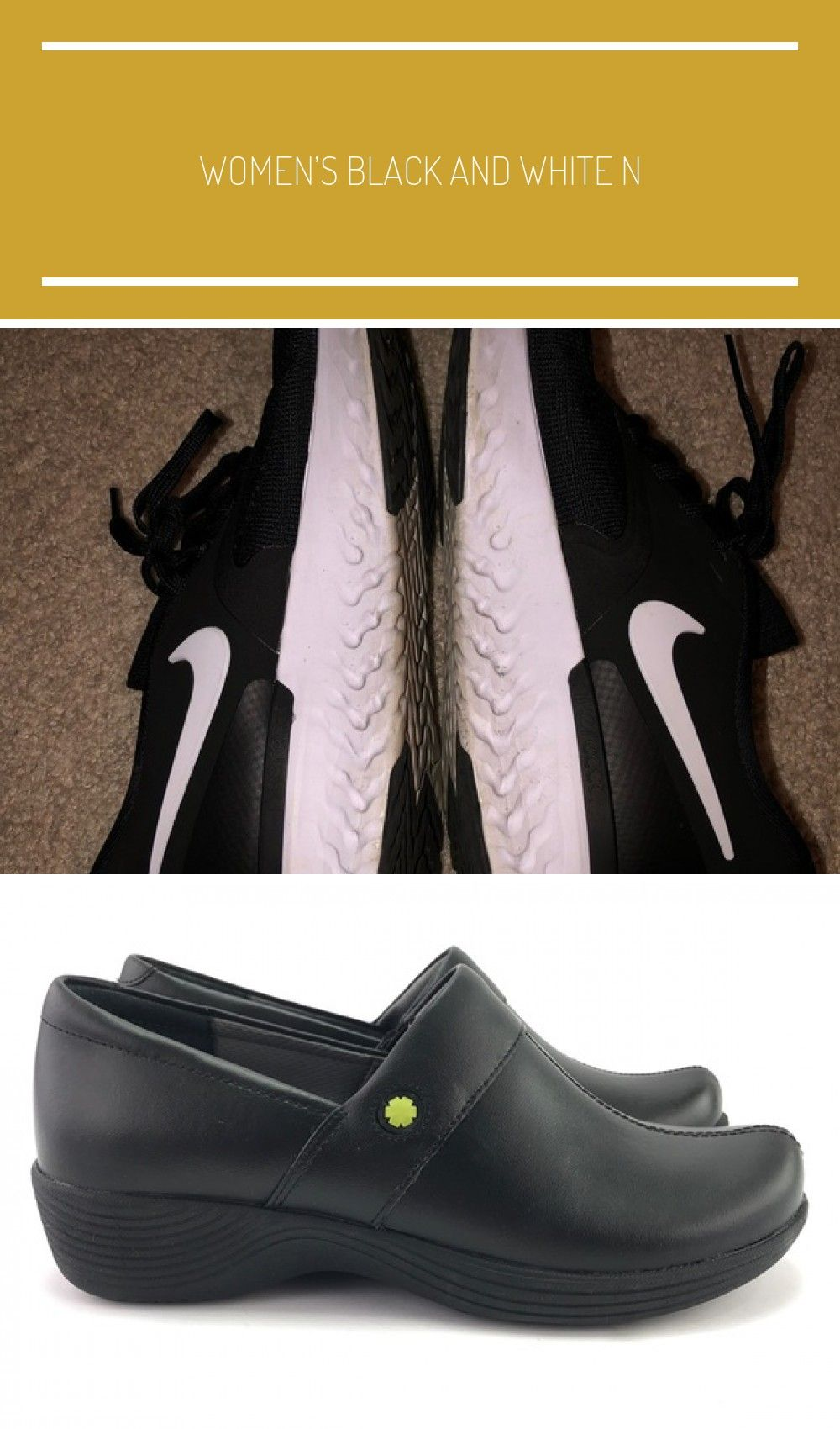 Women's Black and White Nike's Size 7 Good for athletic wear