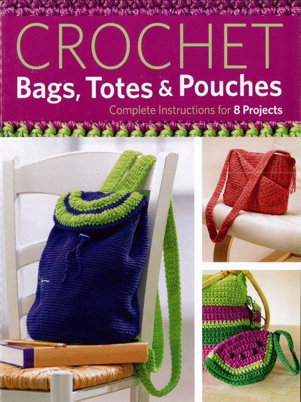 Practical, yet playful, these crochet bags, totes and pouches are ...