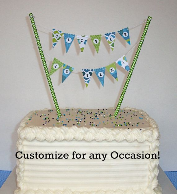 Mini Cake Banner Cake Bunting DIY Kit Happy Birthday