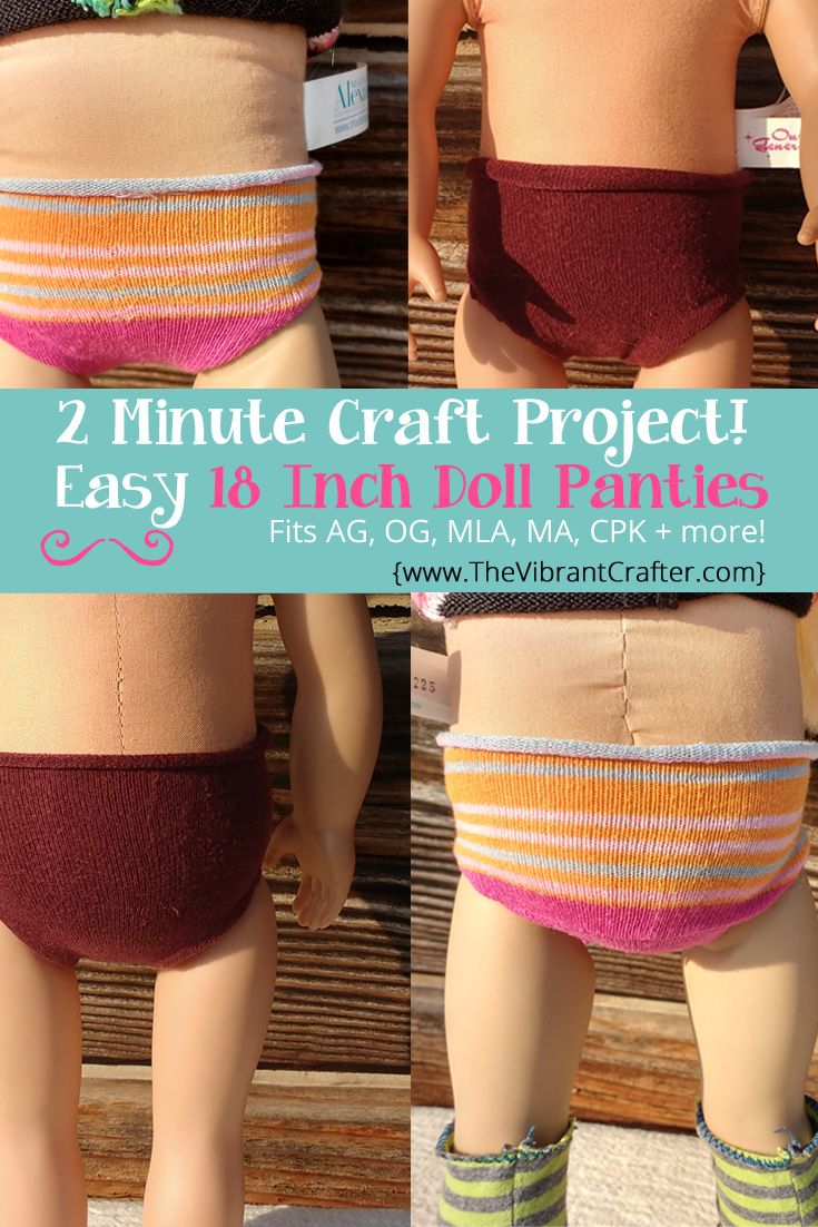 DIY 18 Inch Doll Panties