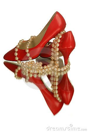 Red shoes, Red high heel shoes