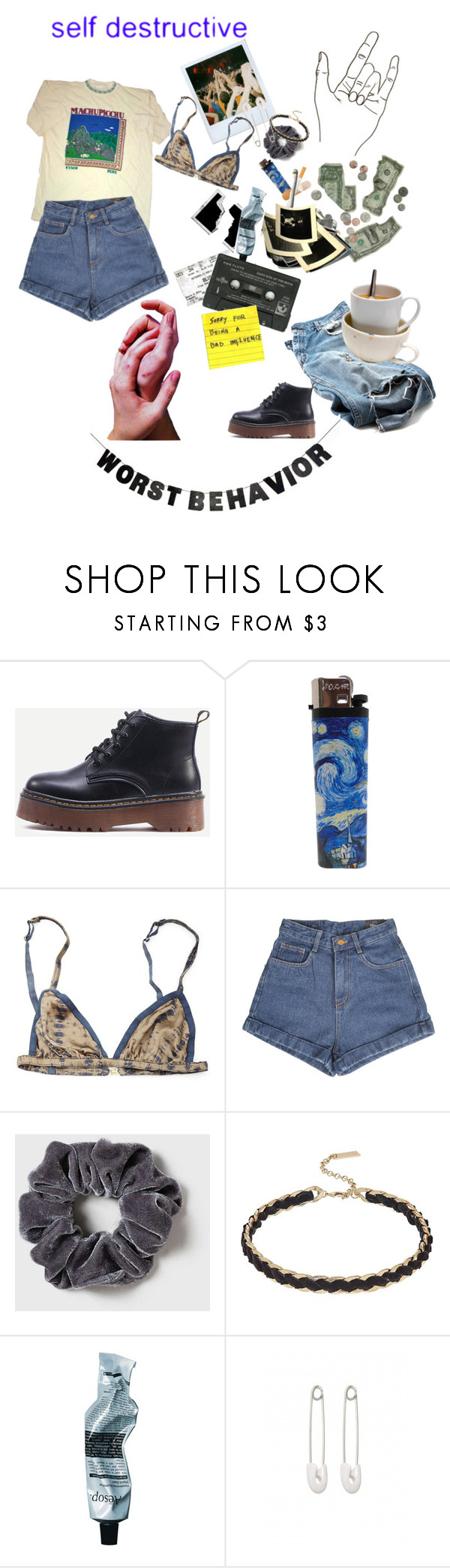 """""""Whatever man!"""" by bloss-umm ❤ liked on Polyvore featuring Rabens Saloner, Dorothy Perkins, Steve Madden, Aesop, Kristin Cavallari and WALL"""