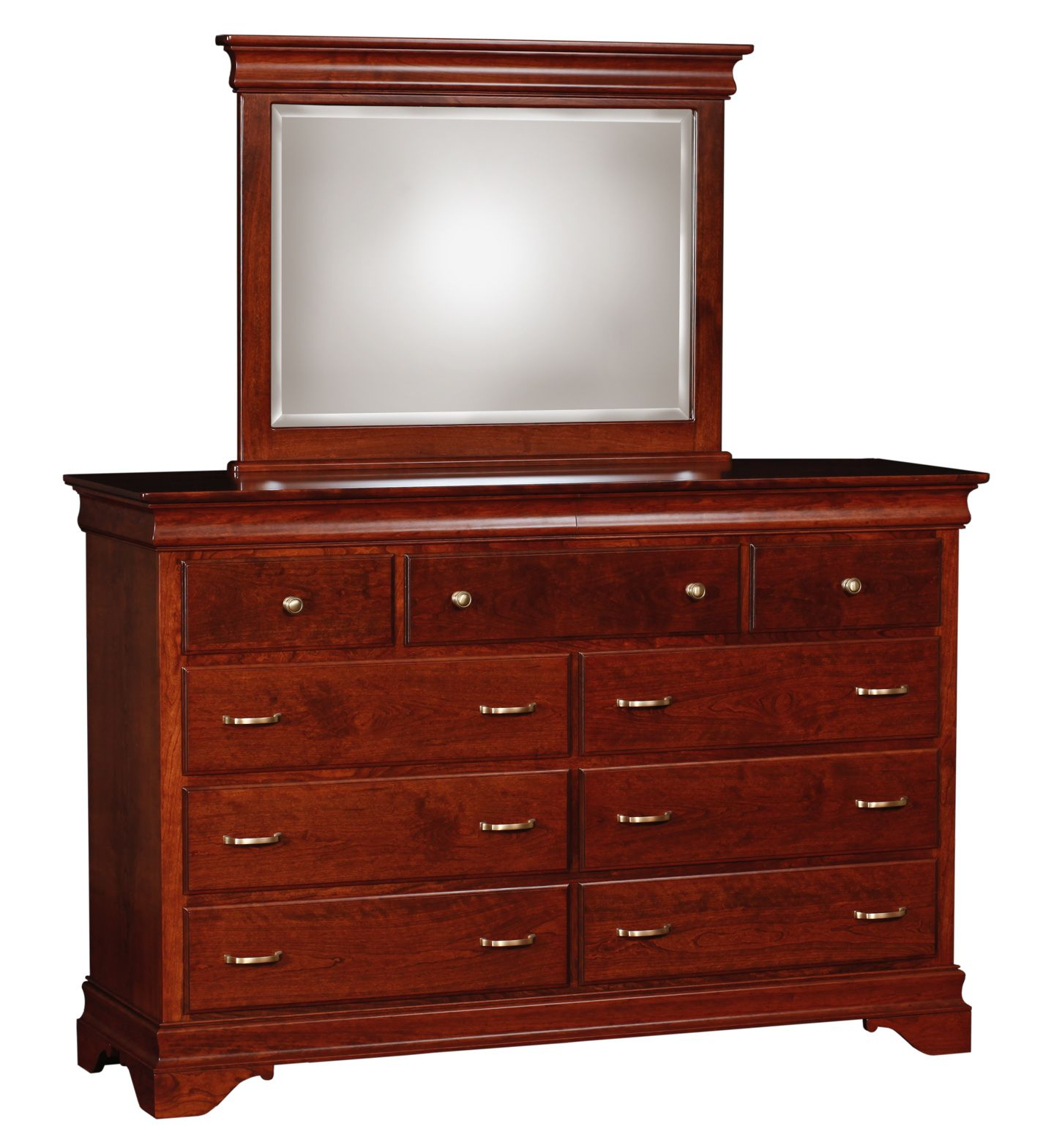 Design Model Dressers With Mirror And 9 Drawer