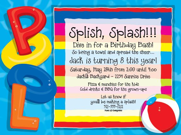 Pool Invitations Swimming Pool Party Invitations Pool party