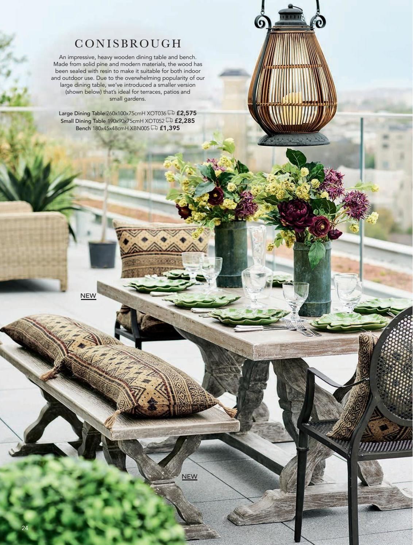 2018 Garden Lookbook Outdoor Dining Table Decor Outdoor Dining Table Luxury Garden Furniture