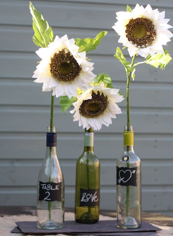 new wedding decorations signs bottles hanging jars paper pom poms wish trees