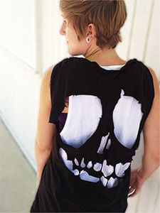 T Shirt Design Ideas Cutting Cut Up T Shirt Designs Diy Skull Tee