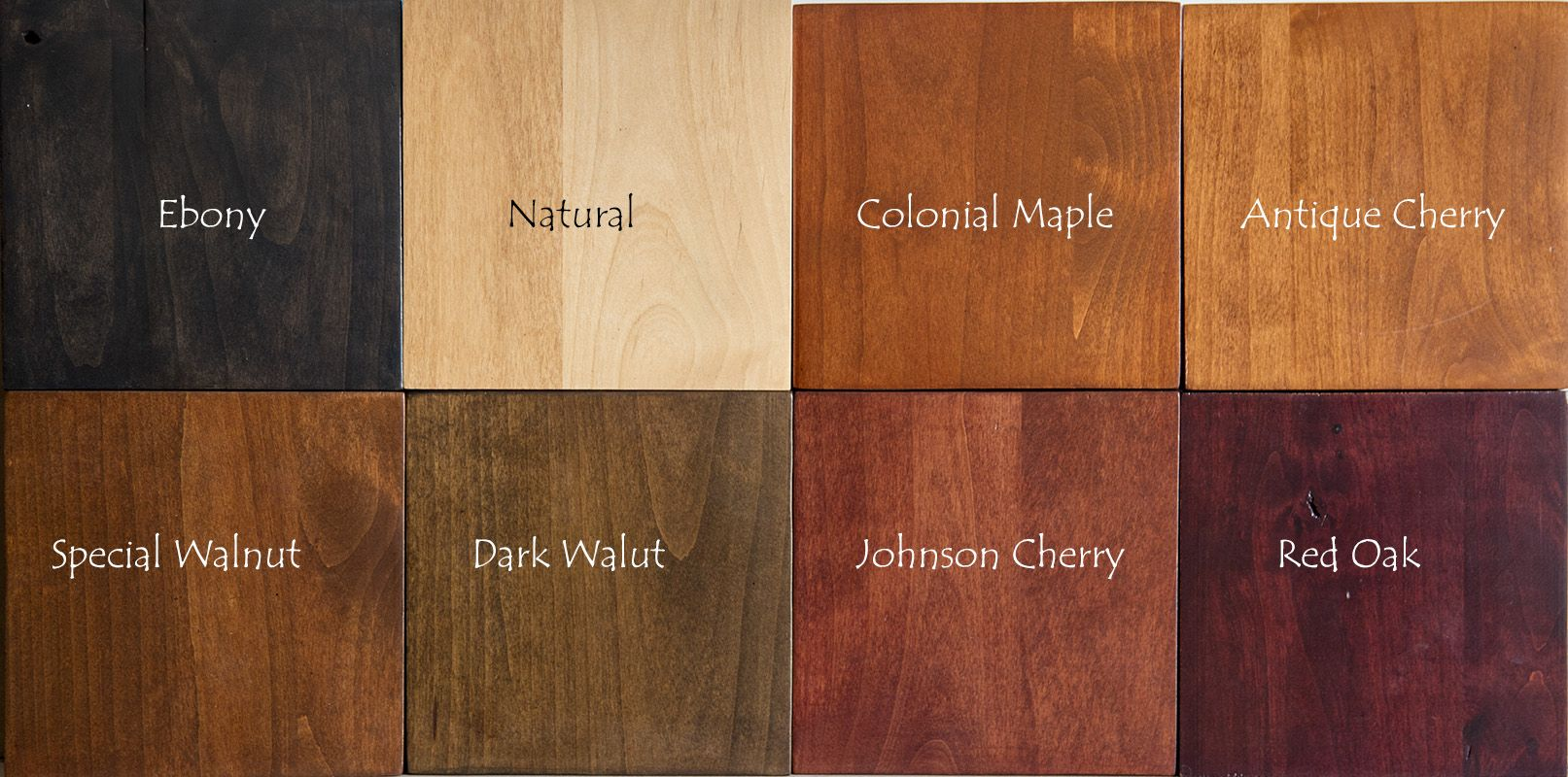 Knotty Alder Stain Samples Indirect Lighting | wood ...