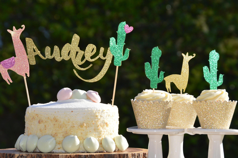Cactus cake topperllama cake toppercustom cake topper