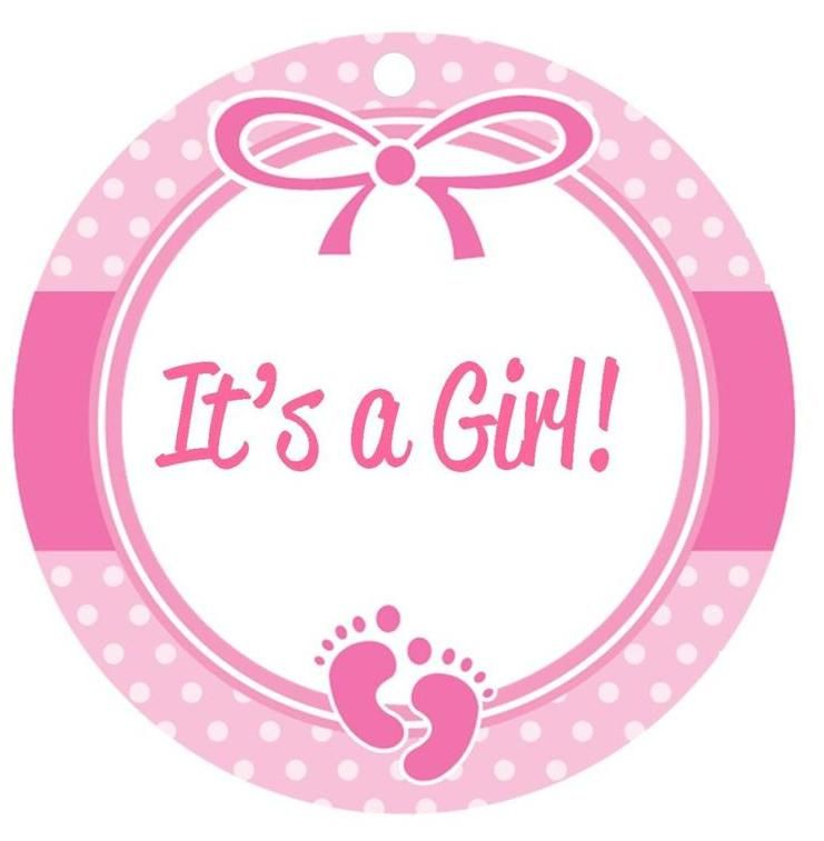 Free Baby Girl Clip Art Borders Baby Girl Clipart Baby Shower Favor Tags Free Baby Stuff