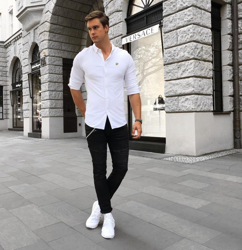 b1135d67946 Best White Shirt Outfit Ideas For Men. White shirt
