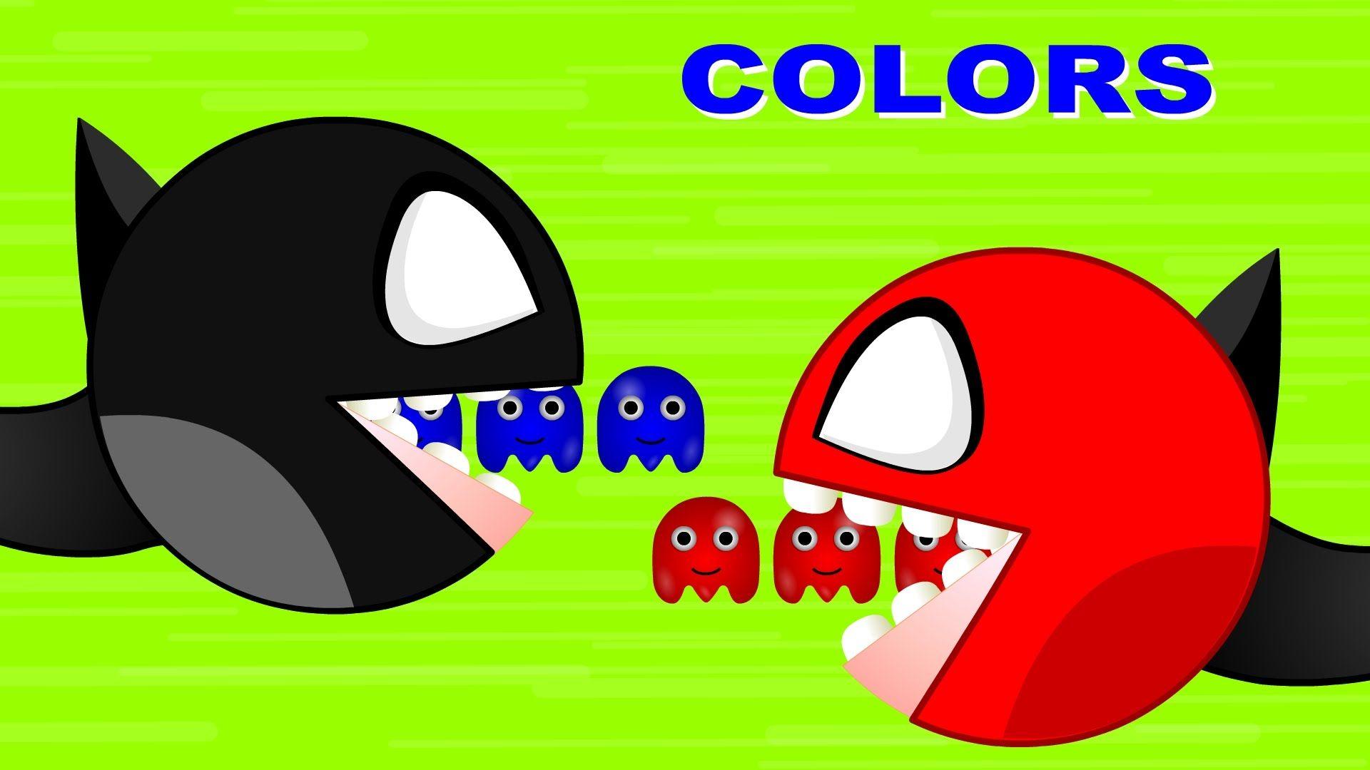 Learn Colors Pacman Batman Surprise Eggs | Learn Teach Colours to ...