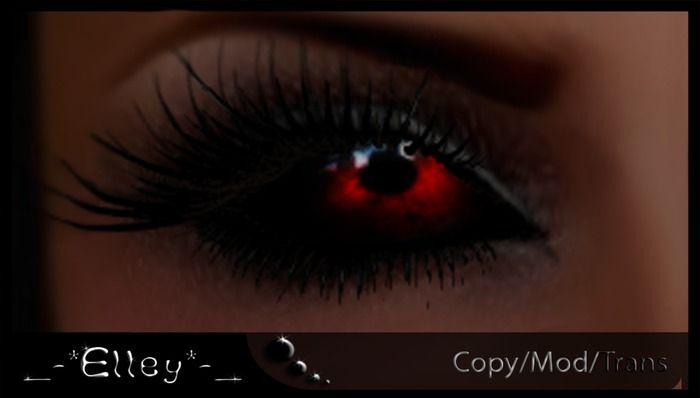 Black Sclera Red Iris Contacts Cystic's Eyes red iris...