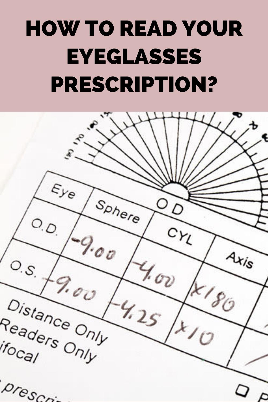 How To Read Glasses Prescription Prescription Prescription Glasses Glasses Online