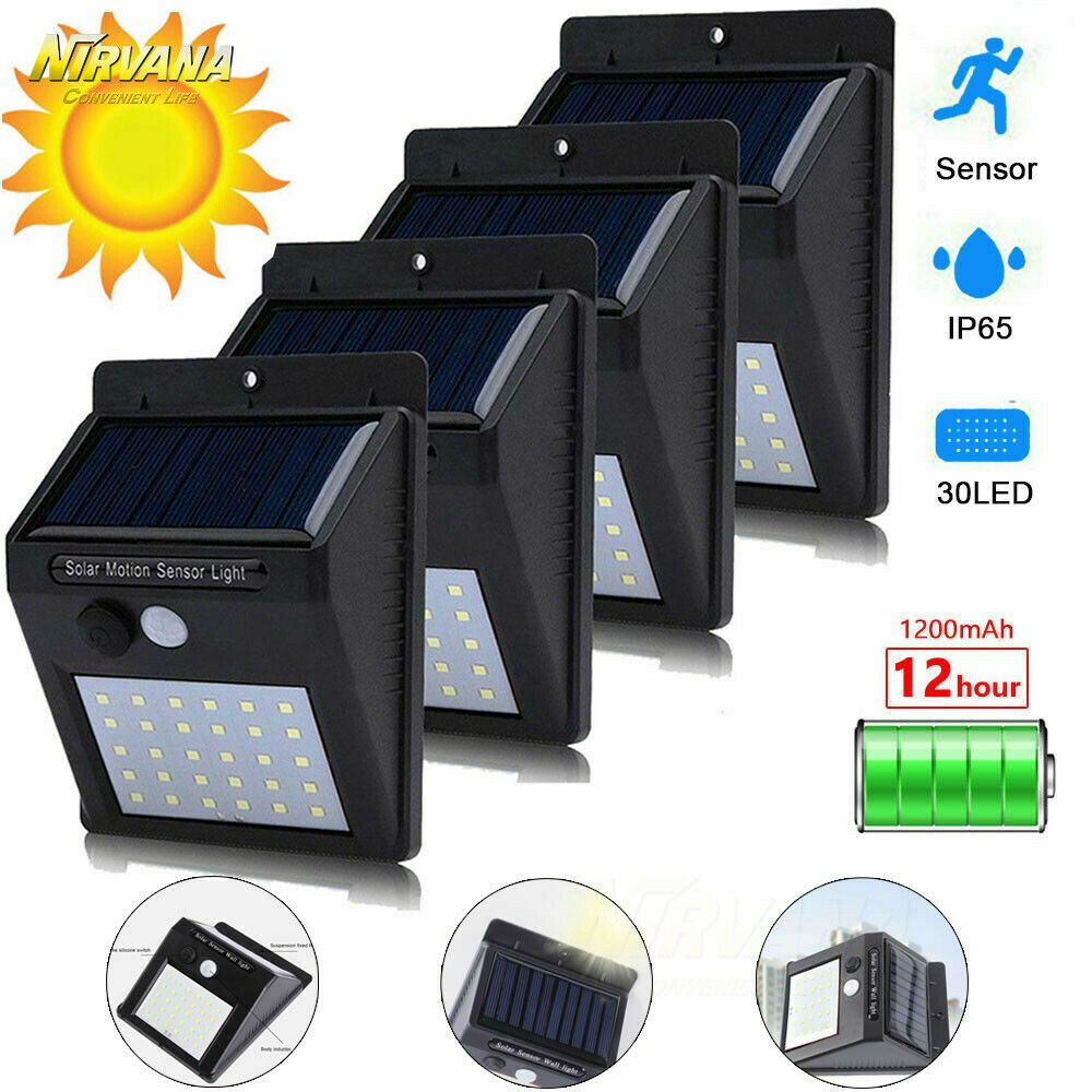30led Solar Power Light Pir Motion Sensor Security Outdoor Garden Wall Lamp Solar Lamp Solarlamp Sola Solar Wall Lights Solar Powered Lights Solar Lights