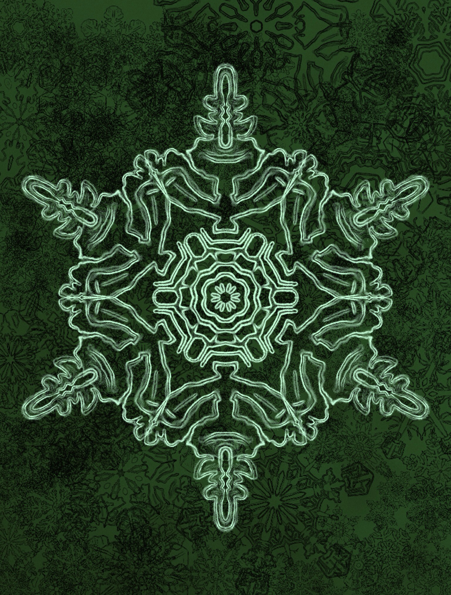 Need snowflakes for a logo? Create your own from your iPad