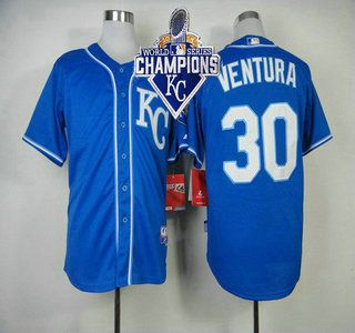 1783f21a2 ... Kansas City Royals Jersey 30 Yordano Ventura Light Blue With 2015 World  Series Champions Patch Jerseys ...