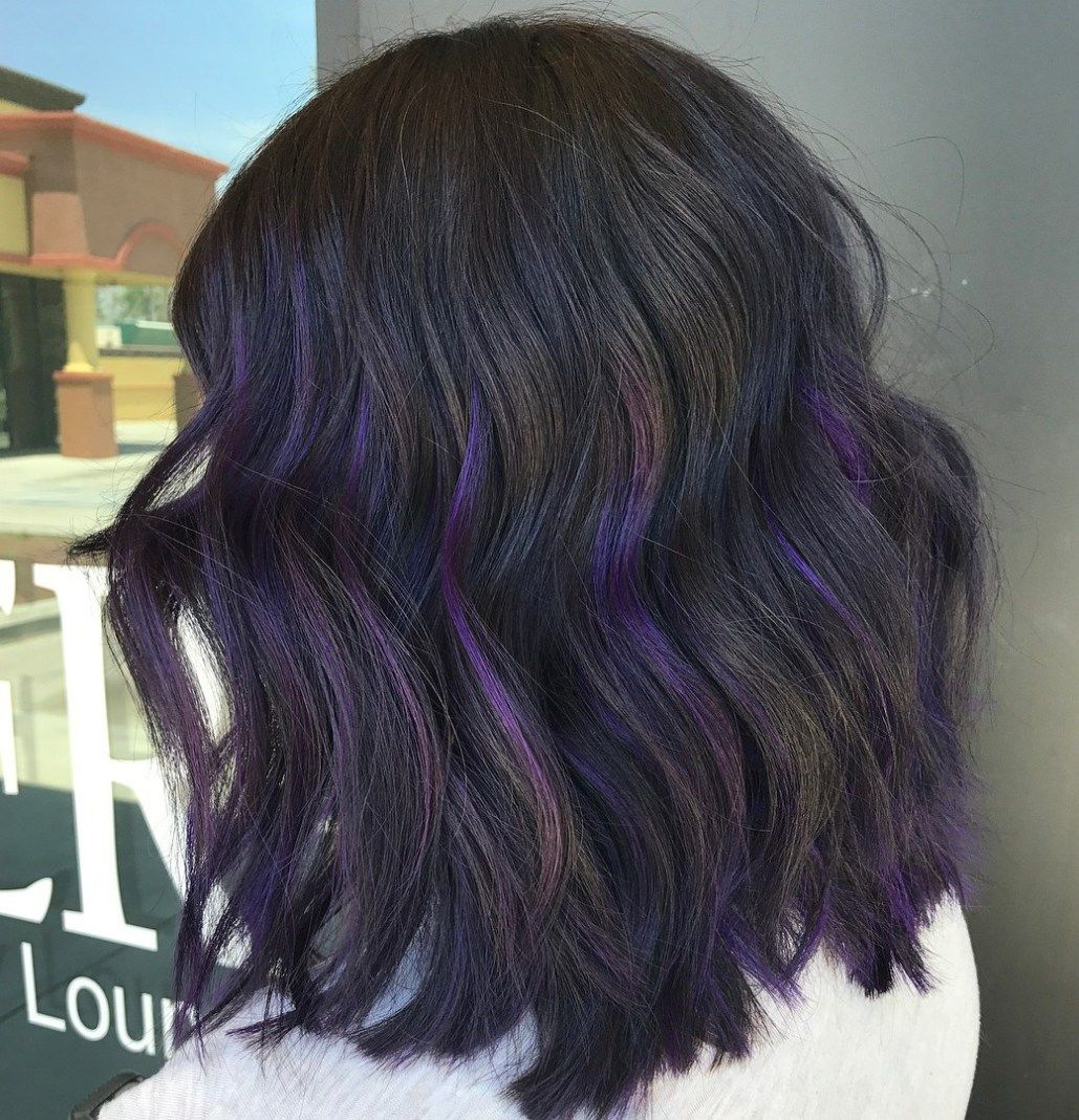 40 Ideas Of Peek A Boo Highlights For Any Hair Color Peekaboo Hair Purple Hair Highlights Hair Color Purple