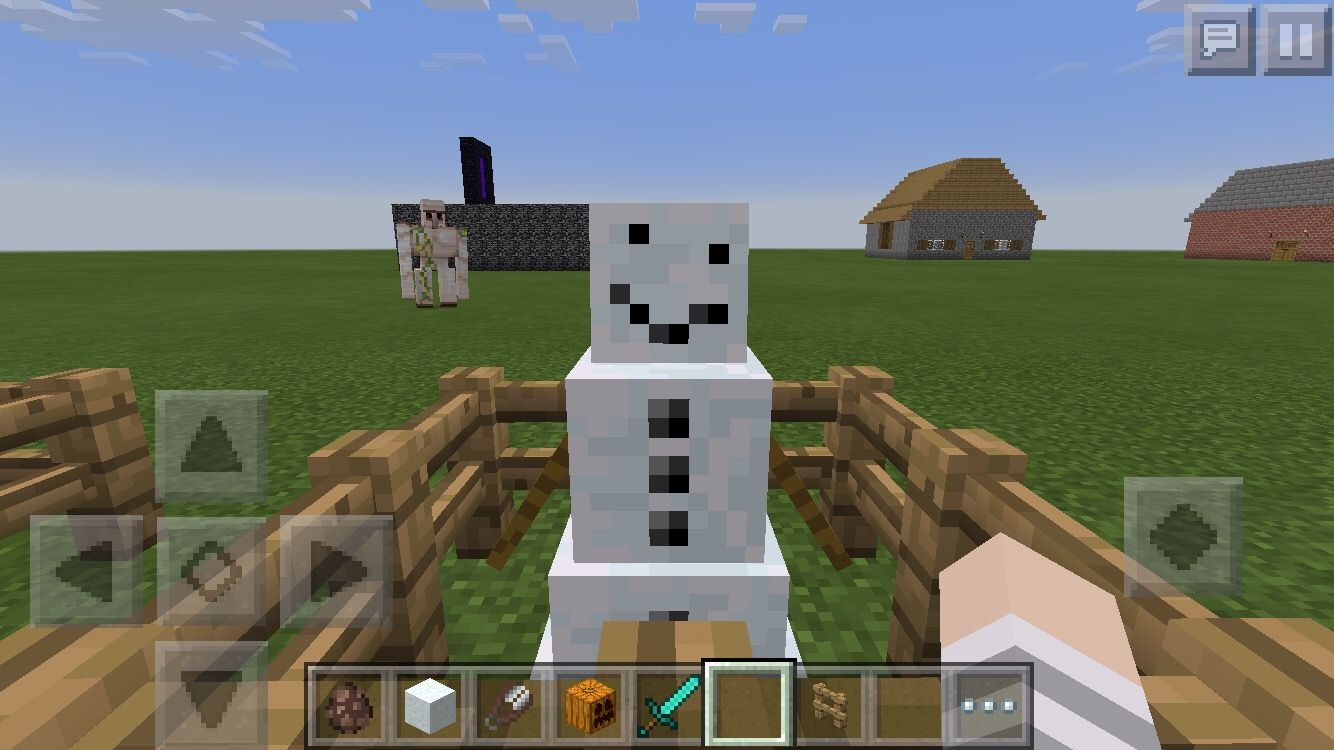 How to Make a Happy Snowman Fountain, Minecraft, Night