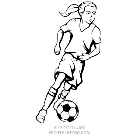 Girl Dribbling A Soccer Ball Soccer Boys Soccer Soccer Art