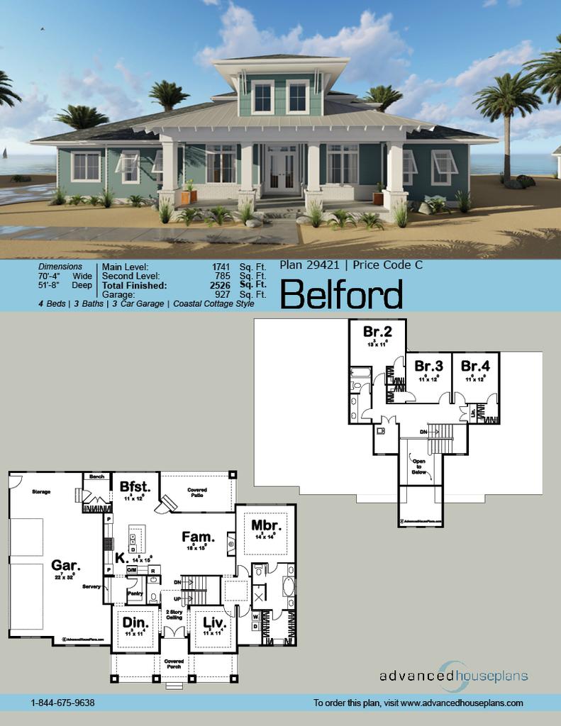 Belford 1 5 Story Coastal Cottage House Plan Cottage House Plans Coastal Cottage Lake House Plans