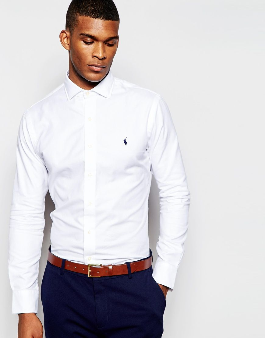 Polo Ralph Lauren Smart Shirt with Cutaway Collar In Custom Regular Fit at  asos.com