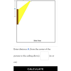 A simple guide to art and picture lighting with recessed lights use these 3 recessed lighting calculators for the number of recessed lights recessed light placement and accent light placement calculations aloadofball Gallery