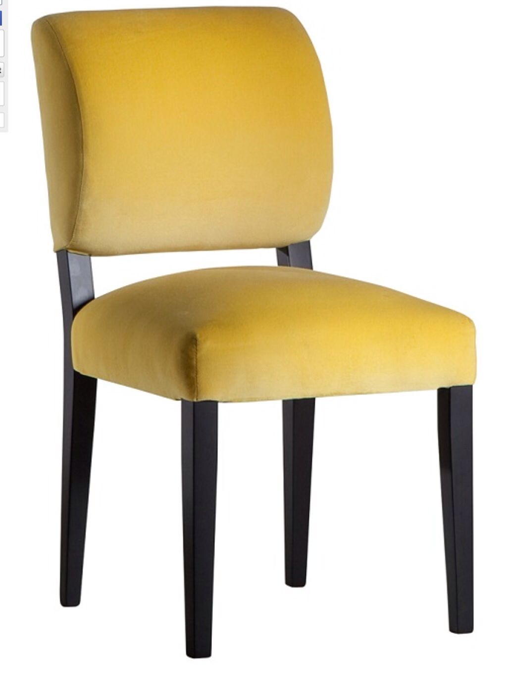 Yellow Upholstered Dining Chair Midcentury Modern Dining Chairs