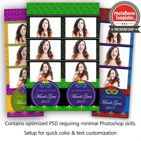 Festivities 3-up Strips Photo Booth Template | Pinterest | Photo ...