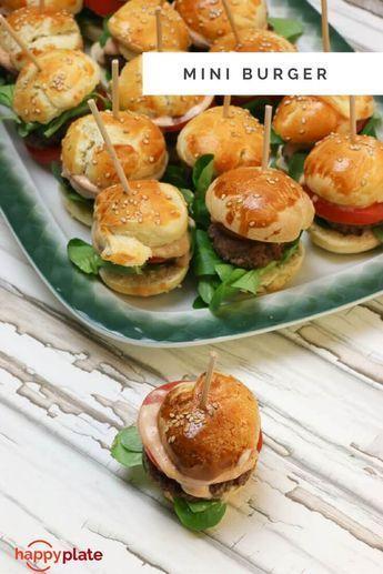 Party Mini Burger mit selbstgemachten Buns Party Mini Burger veggie: alternativ zum Rindfleisch, Valess Schnitzel klein schneiden & auf die Burger verteilen