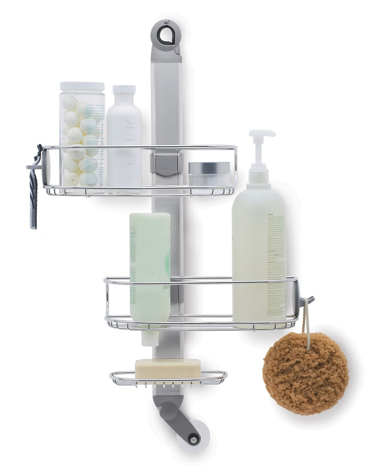 simplehuman Bath Accessories, ADJUSTABLE Shower Caddy - Shower ...