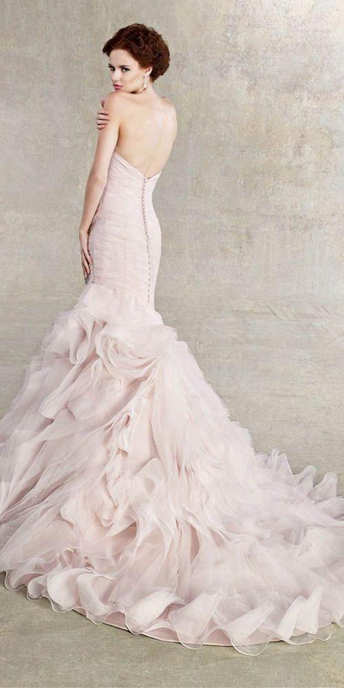 Peach & Blush Mermaid Wedding Gowns