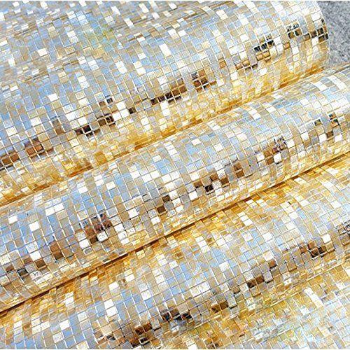 QIHANG Luxury Gold Foil Mosaic Background Flicker Wall