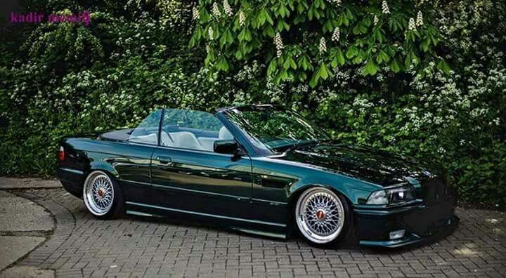 bmw e36 3 series cabrio green slammed bmw ultimate. Black Bedroom Furniture Sets. Home Design Ideas
