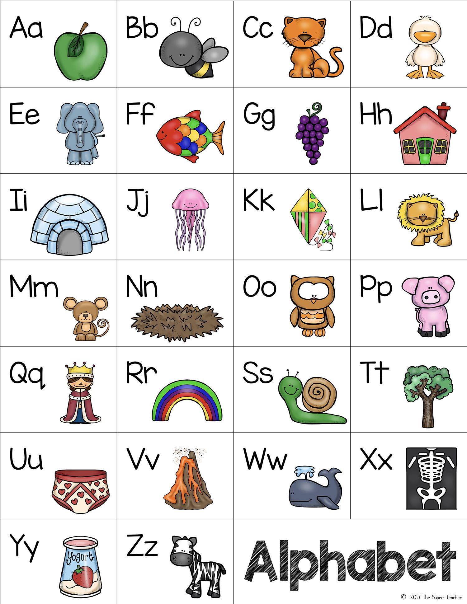 Free Letter Desk Chart From The Super Teacher In