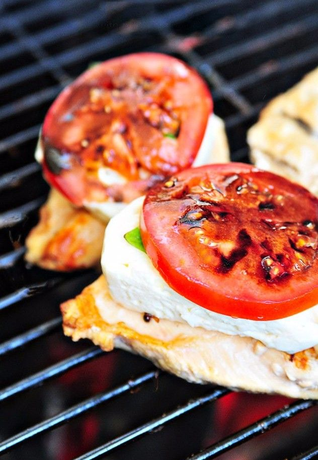 Caprese Grilled Chicken with Balsamic Reduction Recipe – A favorite caprese salad takes center stage with this delicious grilled chicken!  #cowgirl #recipes #cowgirlrecipes #countrygrilling   http://www.islandcowgirl.com/