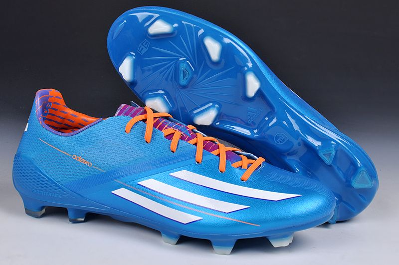 wholesale dealer b86ad 0d659 2014 World Cup Adidas F50 adiZero TRX FG Blue White Outlet