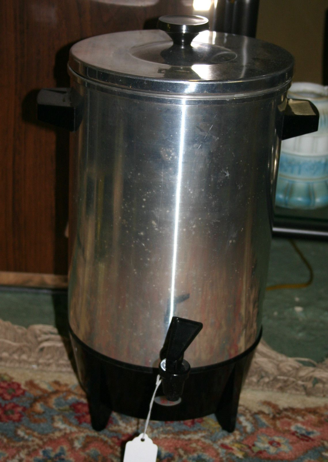 Vintage West Bend 30 Cup Party Percolator Coffee Pot Maker