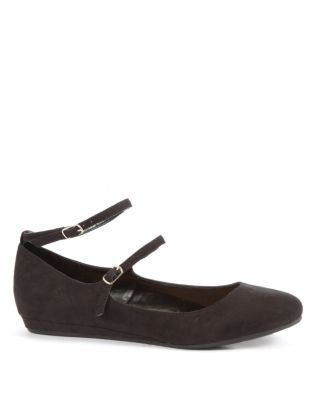 Black (Black) Black Double Ankle Strap Pumps   255843701   New Look £17.99